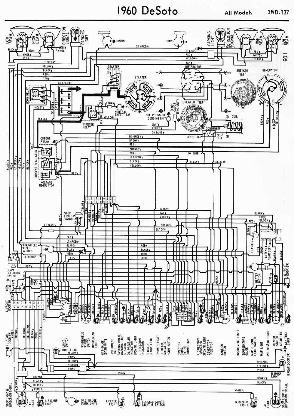 De Soto Car Manuals Wiring Diagrams Pdf Fault Codes 1948 Chrysler Windsor Diagram Download