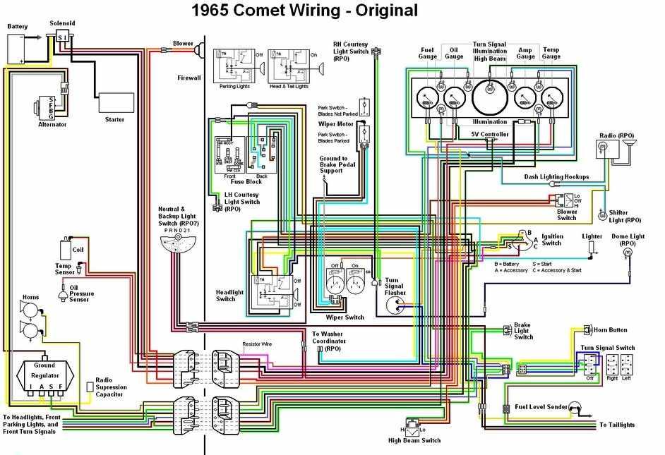 MERCURY - Car PDF Manual, Wiring Diagram & Fault Codes DTC | 1965 Mercury Parklane Wiring Diagram |  | Car PDF Manual, Wiring Diagram & Fault Codes DTC